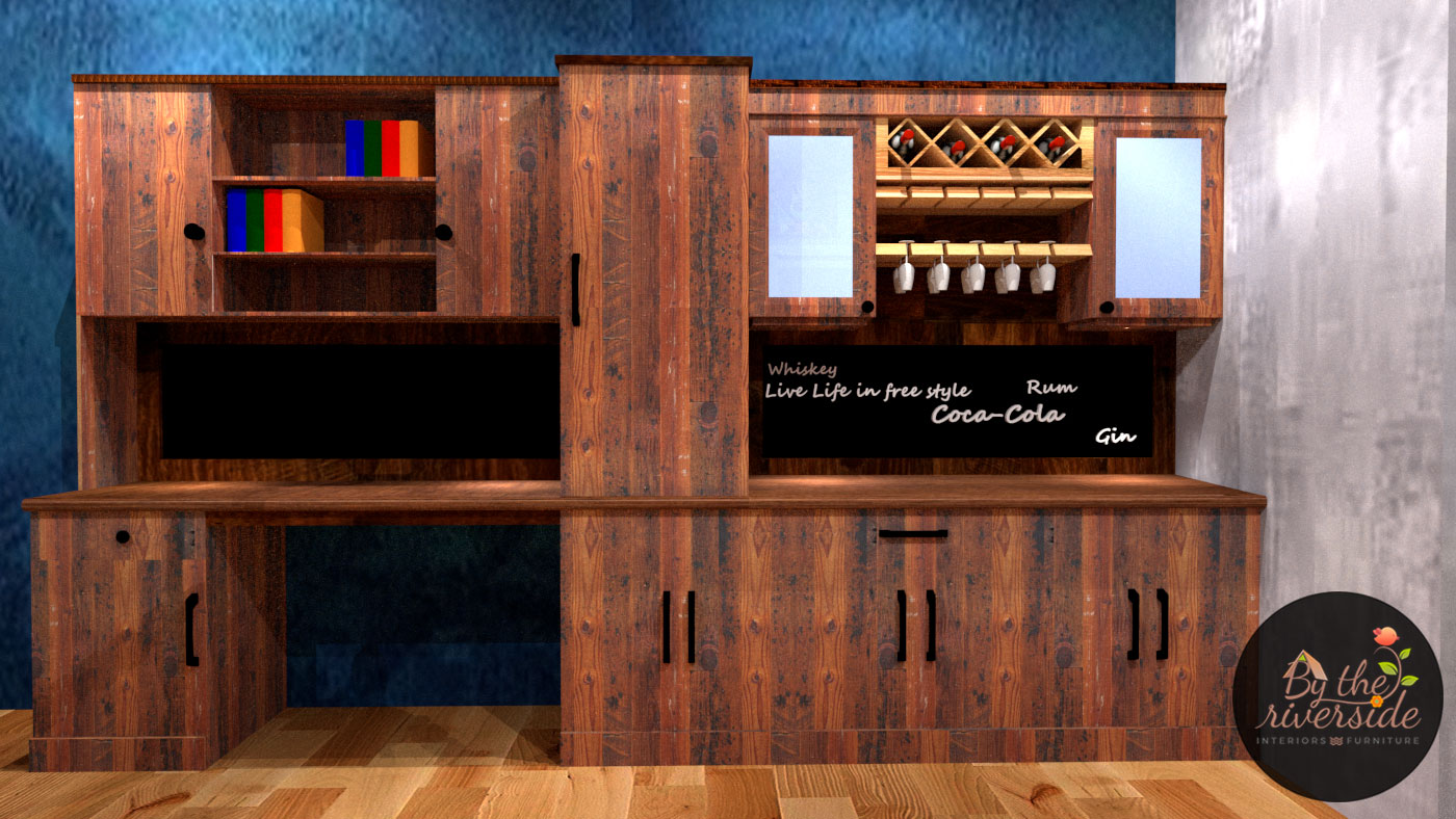 Rustic Vintage home bar