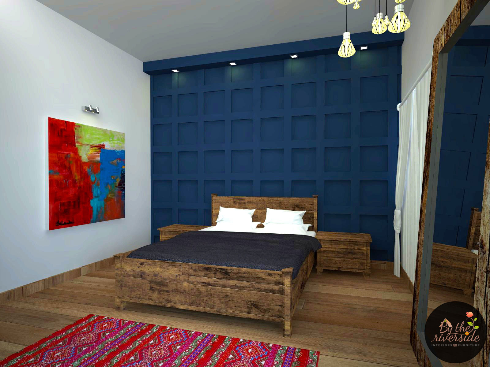 modern rustic bedroom interior designers