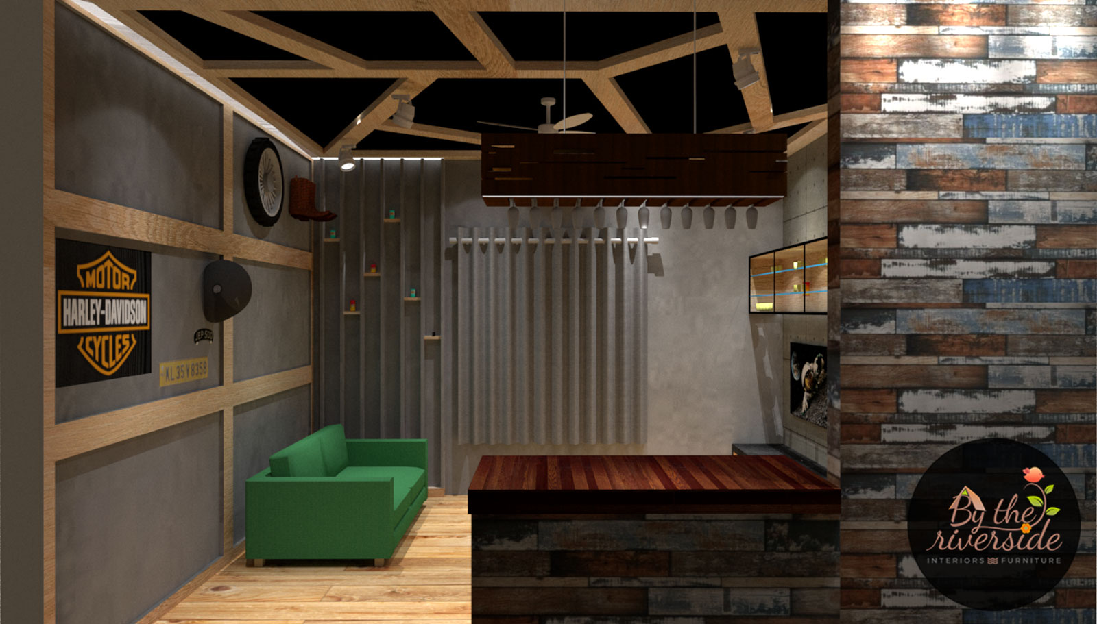 Bold rustic bar interiors